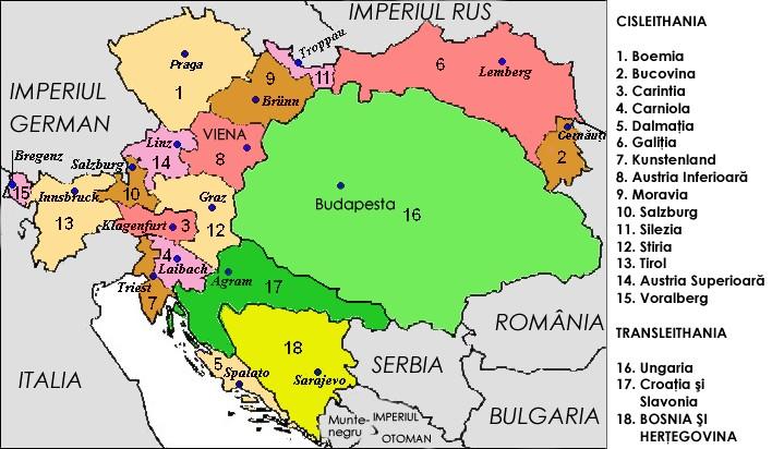 Imagini pentru imperiul austro ungar harta 1867