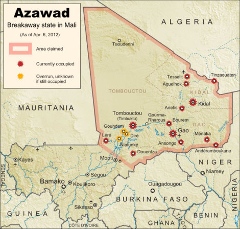New Country: Azawad Declares Independence From Mali - Political ...