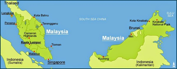 ANTHROPOLOGY OF ACCORD: Map on Monday: MALAYSIA and SINGAPORE