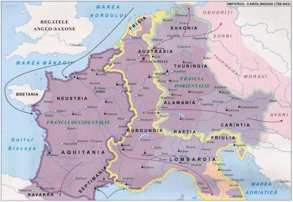 Imagini pentru imperiul carolingian map 843