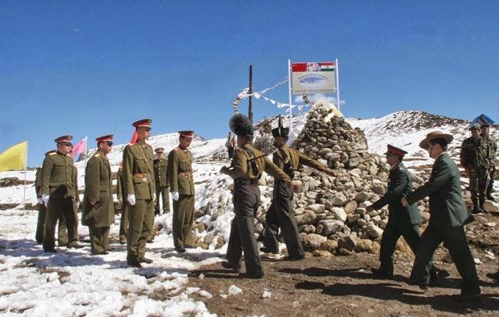 China and India Country Border