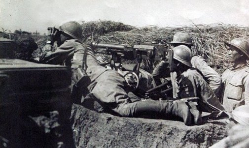 Cuib de mitralieră, Armata Română, Primul Război Mondial, sursa:art-historia.blogspot.com