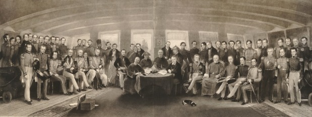 Treaty of Nanking: Engraving of the Signing