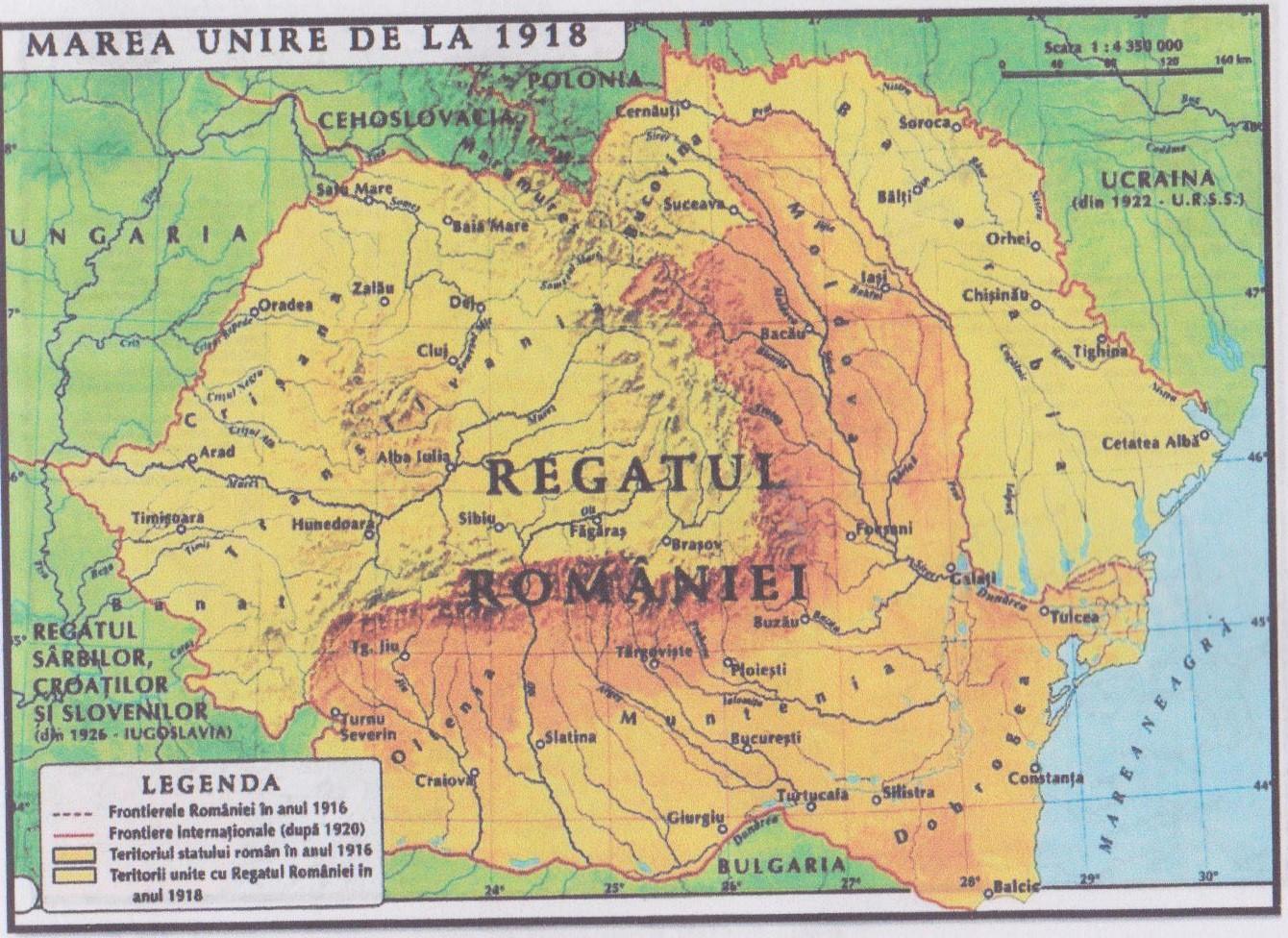 Harta: Harta Marii Uniri 1918