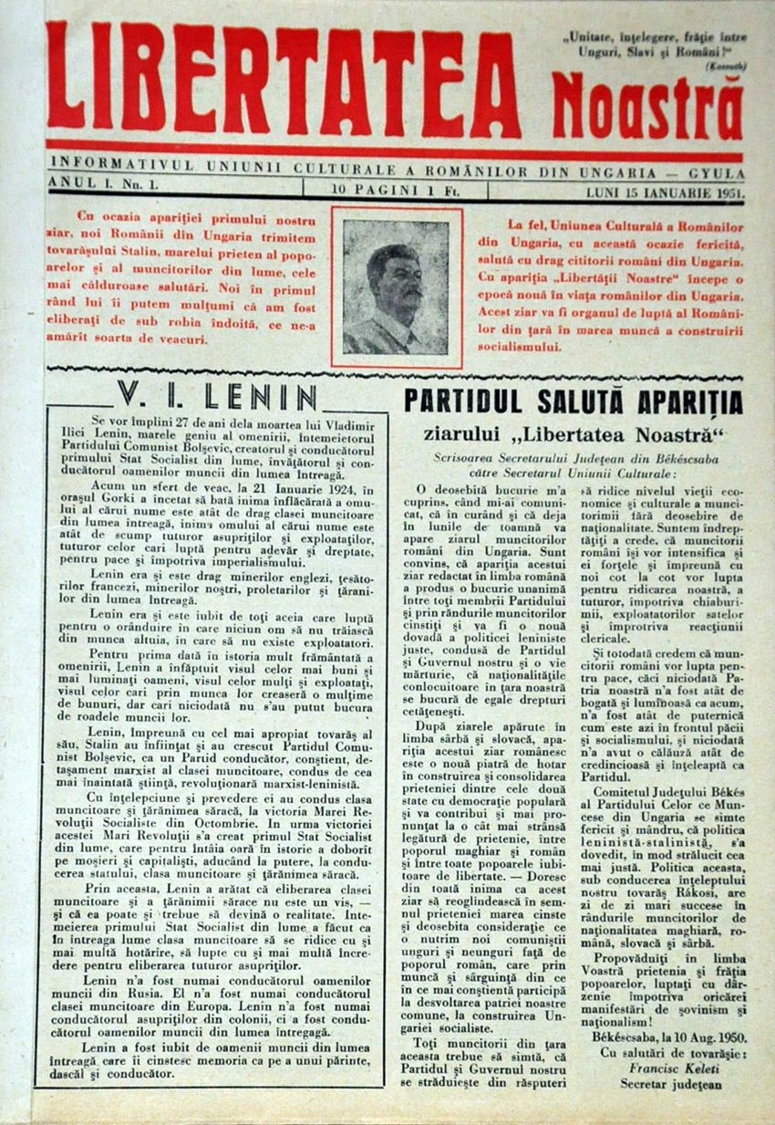 65 de ani de presă scrisă românească în Ungaria